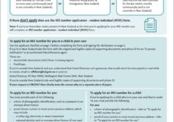Formular für die Steuernummer in Neuseeland