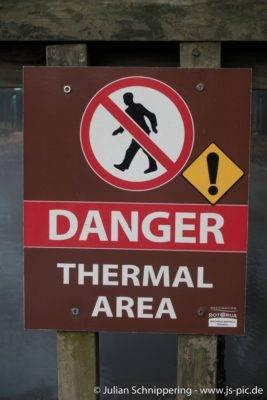 Warnzeichen vor Thermaler Aktivität