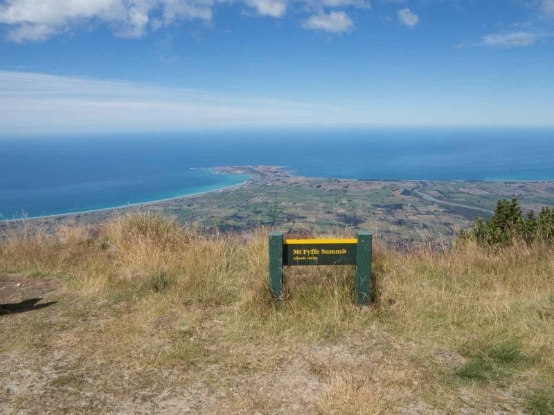 Aussicht vom Berggipfel des Mt. Fyffe