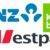 ANZ, Kiwibank und Westpac Logo