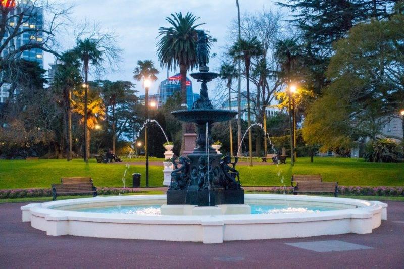 Springbrunnen im Albert Park Auckland