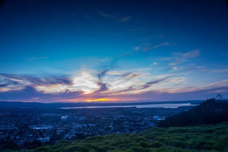 Aussicht vom Mt. Eden auf Auckland