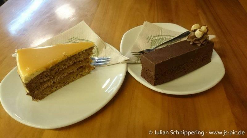 Leckerer Kuchen in der Cadbury World Dunedin