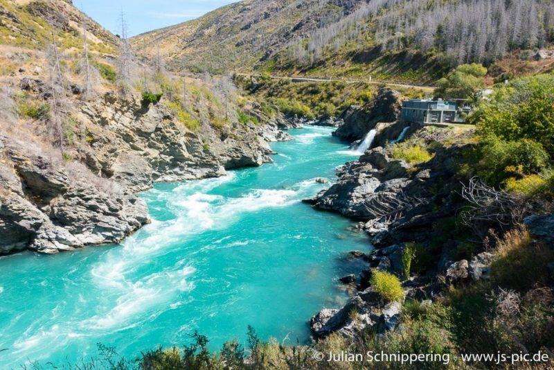 Roaring Meg Fluss und Wasserkraftwerk
