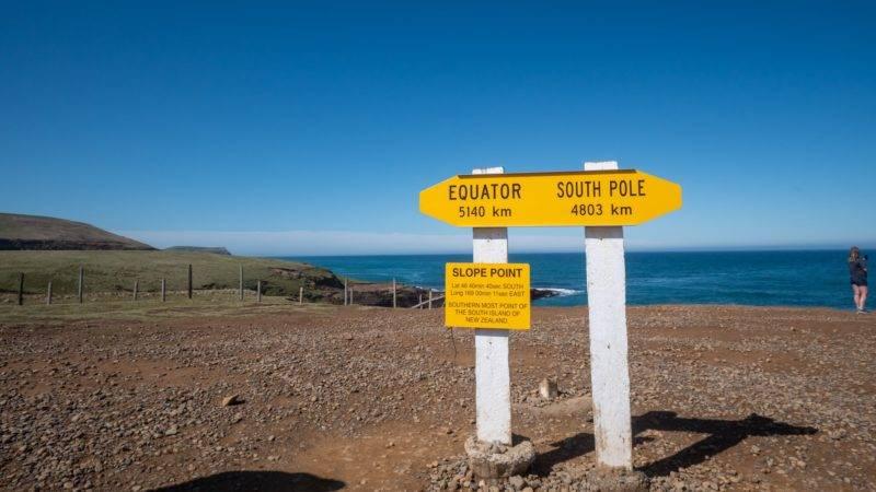 Der Slope Point in Neuseeland
