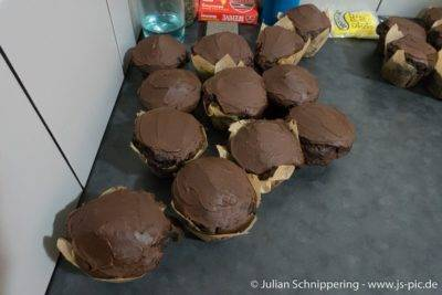 Muffins mit Chilli Schokoladen Topping