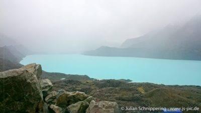 Türkisblauer Gletschersee am Tasman Gletscher