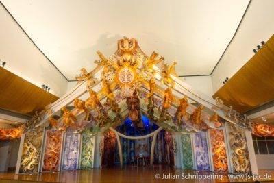 schmuckvolles Kirchengebäude der Maoris
