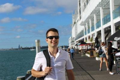 Lukas am Hafen