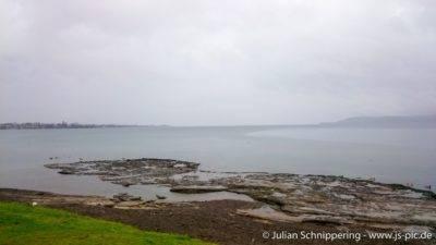 Lake Taupo mit wenig Sichtweite