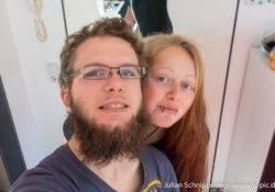 Selfie von Kathi & Julian wieder Zuhause