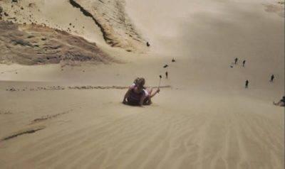 riesige Dünen, ideal zum Sandboarding