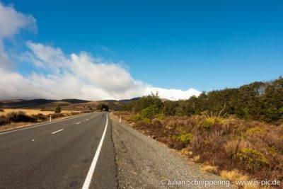 Schneebedeckte Gipfel im Tongariro National Park