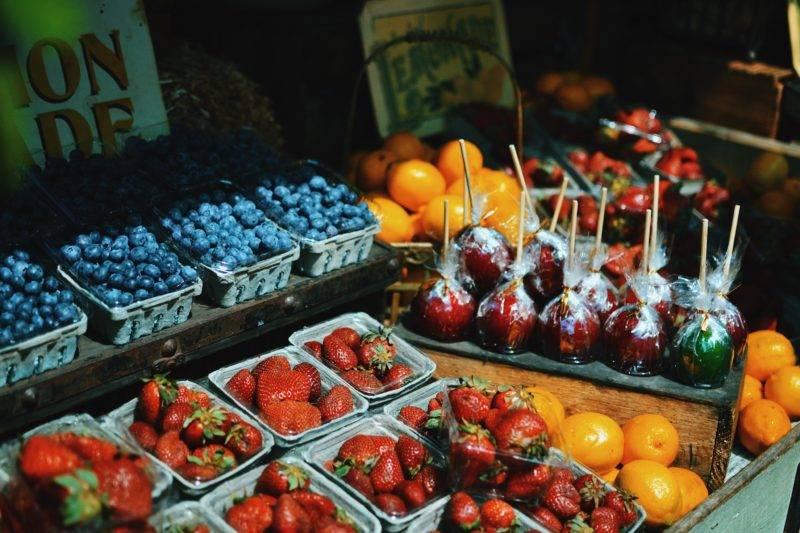 Obst auf einem Stand