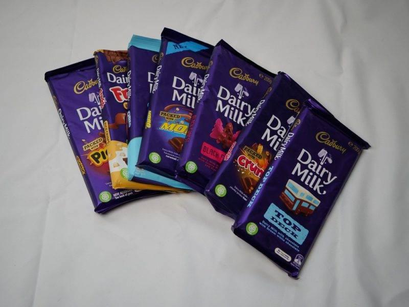 Cadbury Schokoladen Tafeln