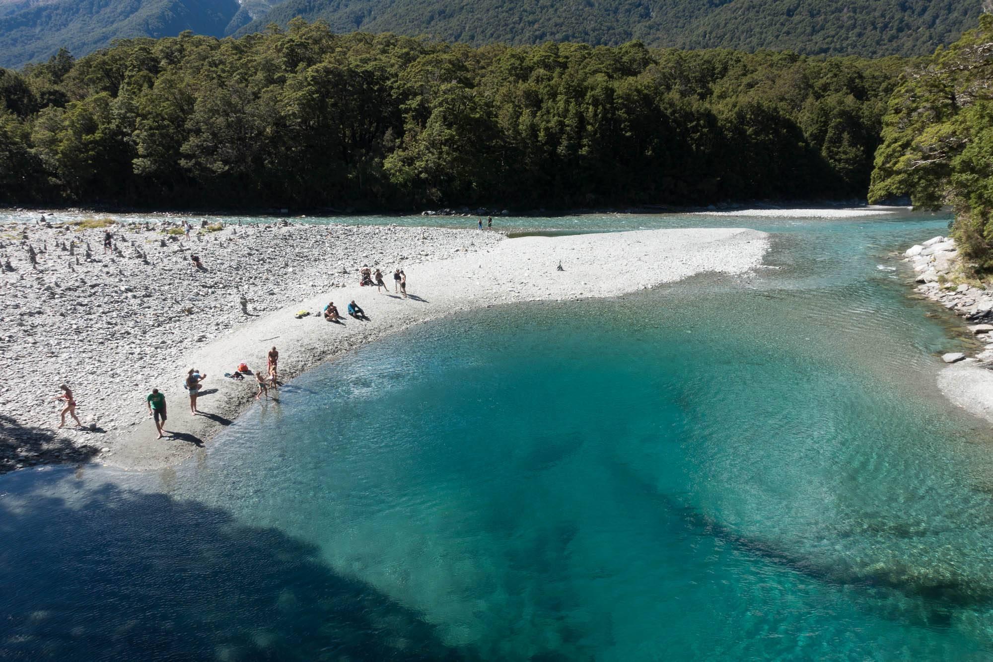 Mt Neuseeland Ansichtskarte Maunganui und Meer