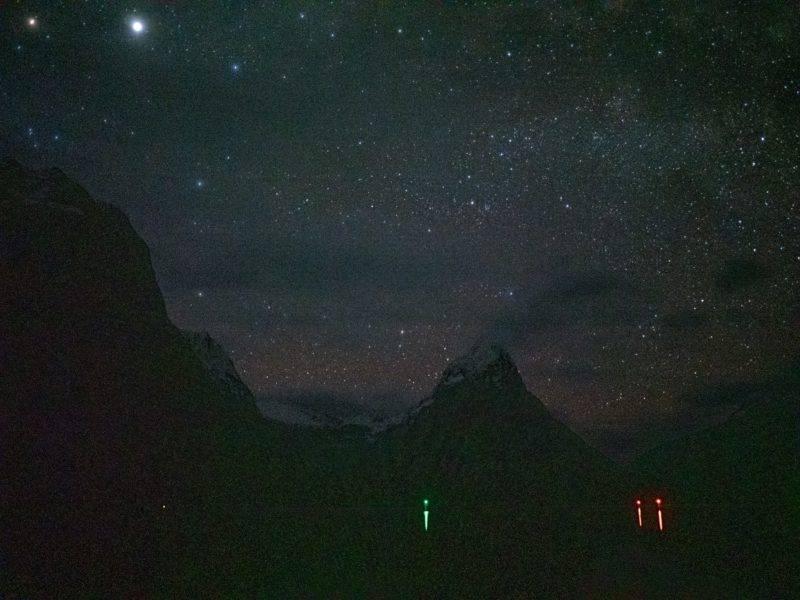 Milford Sound mit Sternenhimmel