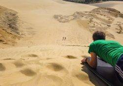 Variante des Sand surfens