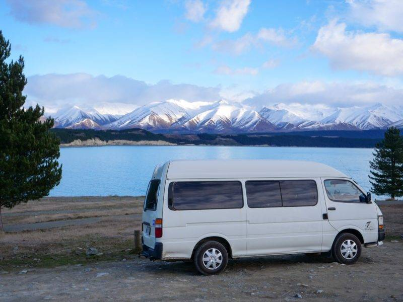 Mein Van am Lake Pukaki