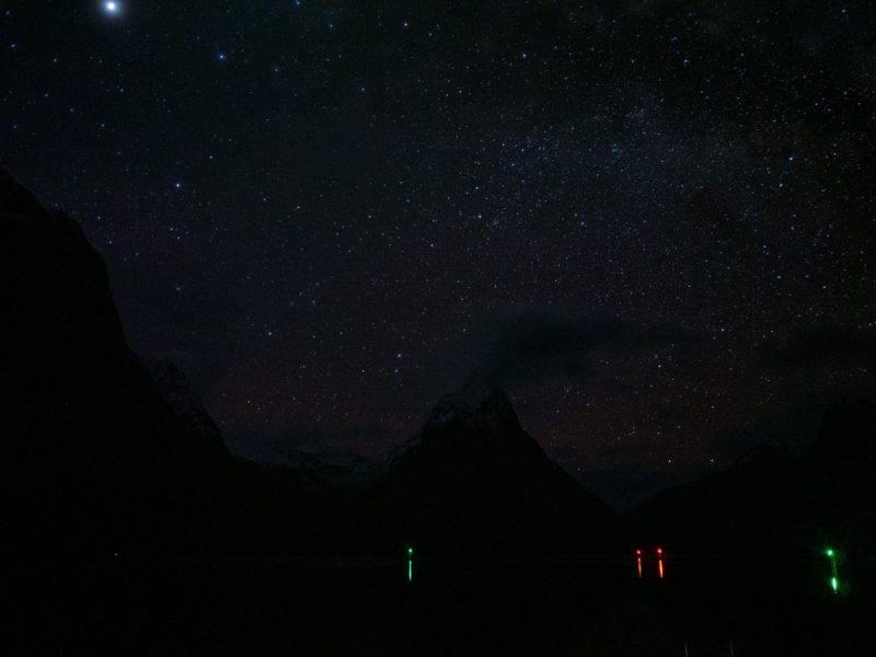 Sternenhimmel im Milford Sound