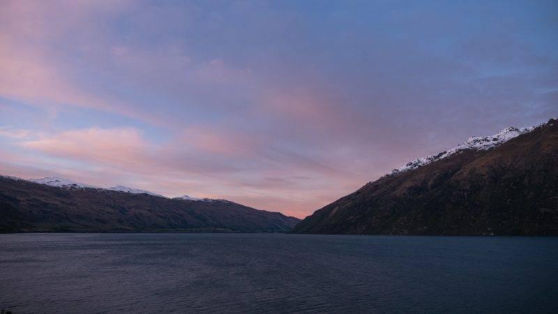 Sonnenaufgang über dem Lake Wakatipu