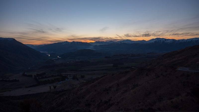 Sonnenuntergang von der Pisa Conservation Area aus