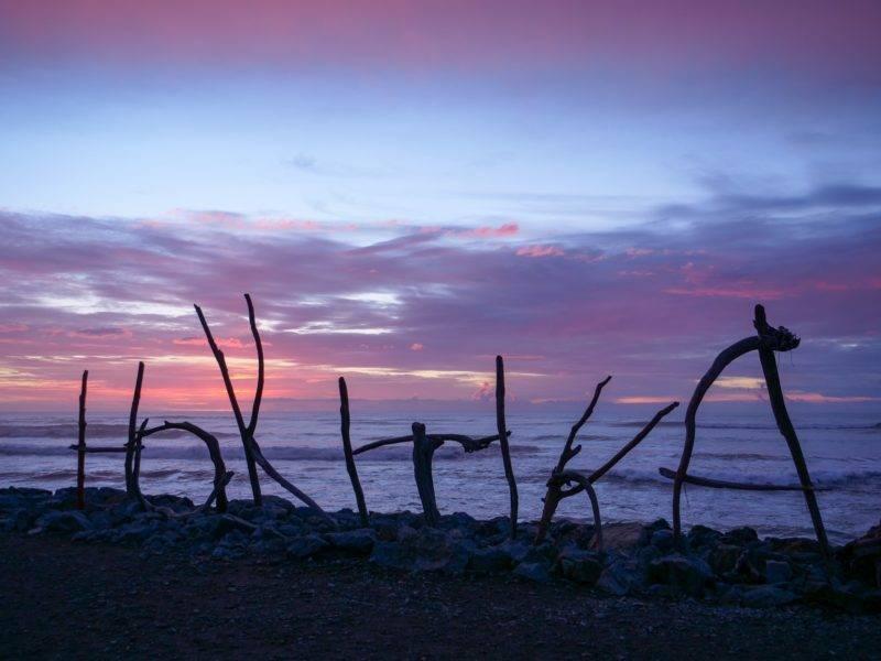 Sonnenuntergang in Hokitika