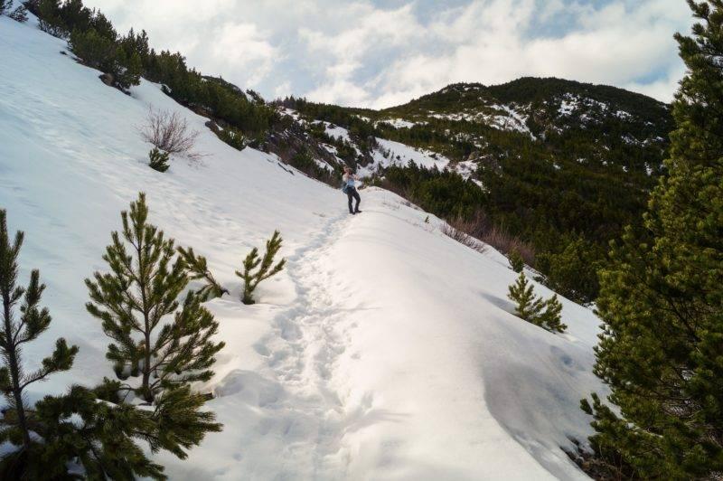 Schnee beim Aufstieg auf Mt. Fyffe