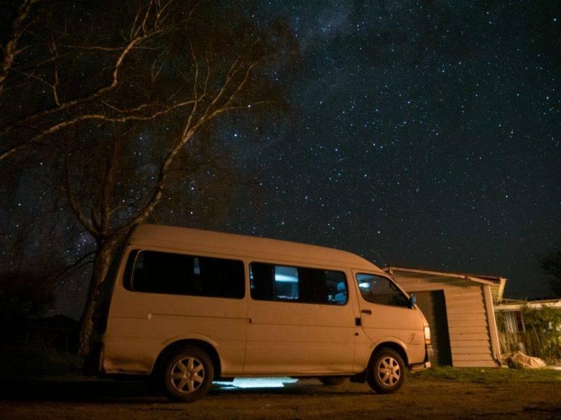 Sternenhimmel zwischen St. Arnaud und Richmond