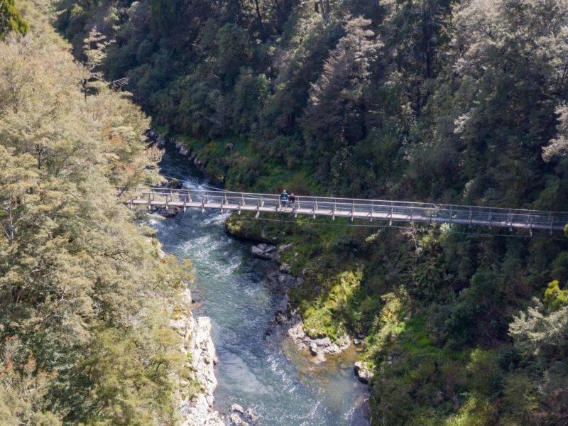 Hängebrücke an der Pelorus Bridge
