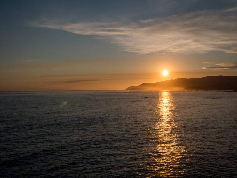 Sonnenuntergang auf dem Weg nach Wellington