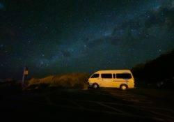 Milchstraße und Sternenhimmel am Castlepoint