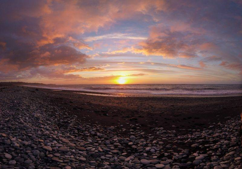 Sonnenuntergang am Gillespies Beach