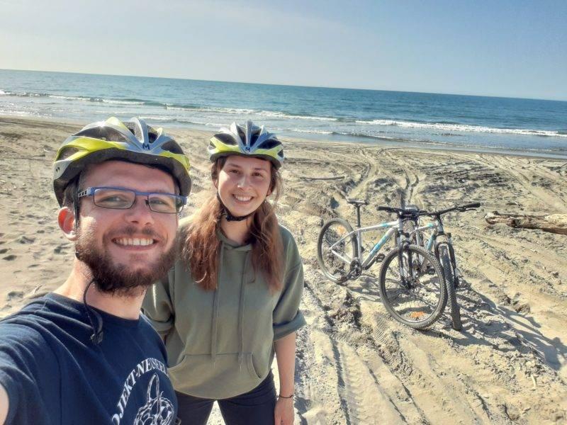 Melina & Ich machen eine Fahrradtour