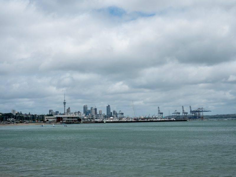 Blick auf die Skyline von Auckland