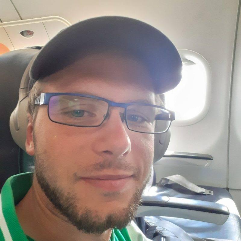 Selfie auf dem Weg nach Christchurch
