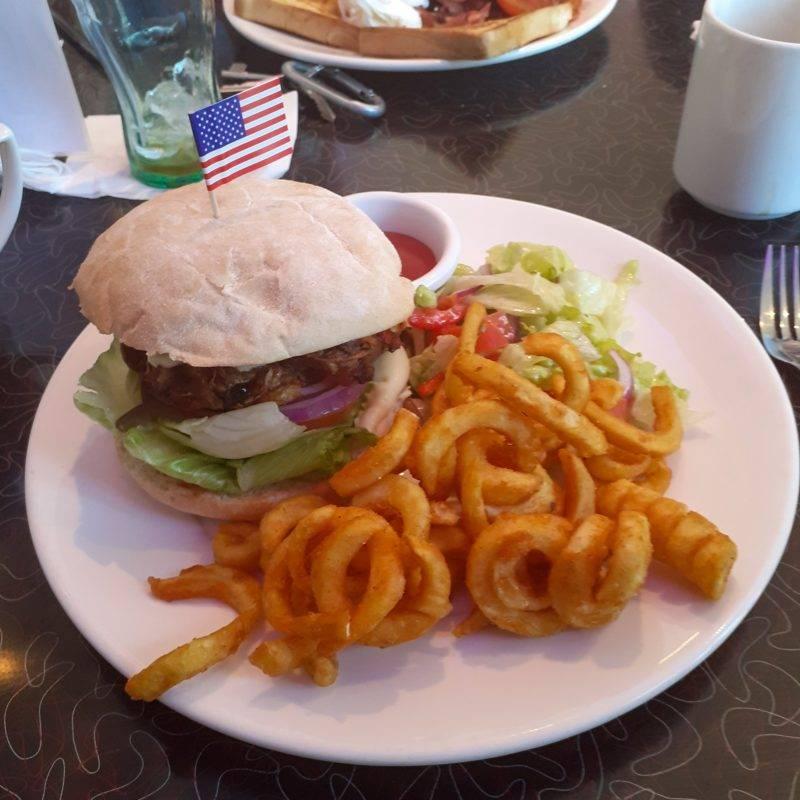 Burger Frühstück in Christchurch