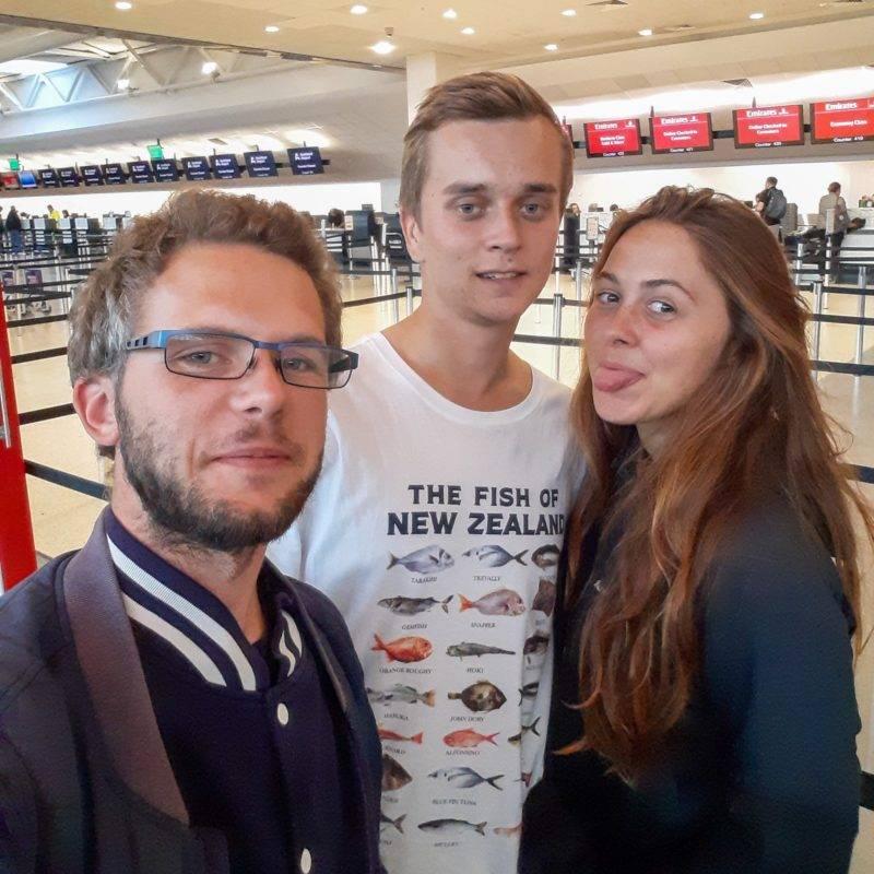 Zoe, Philipp und ich (von rechts nach links)