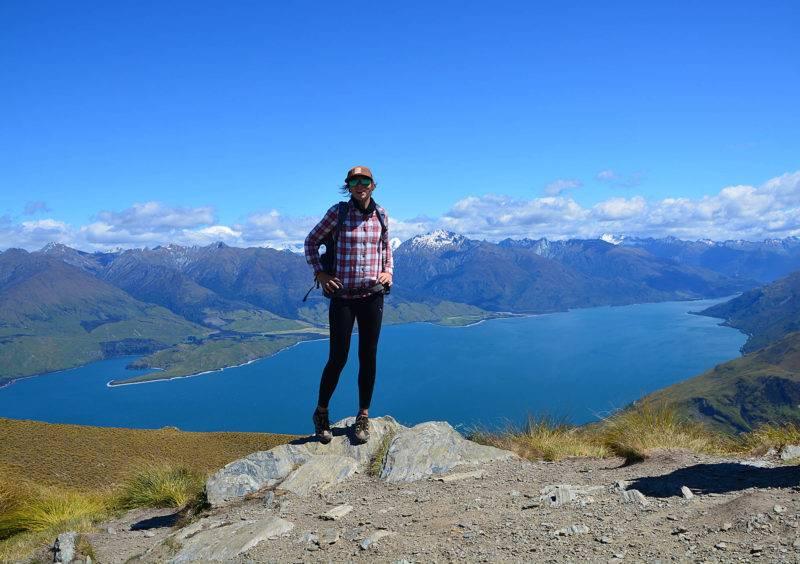 Vicky auf dem Isthmus Peak
