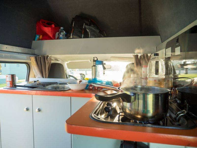 Die Küche im Kuga