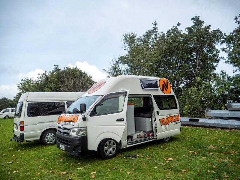 Camping an der Onewhero Domain