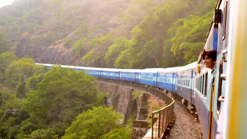 Eine Zugfahrt kann ein Abenteuer sein