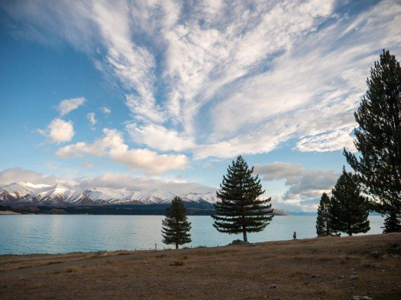 Der Blick auf Lake Pukaki