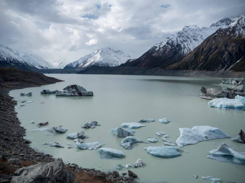 Der Gletscher am Tasman Valley