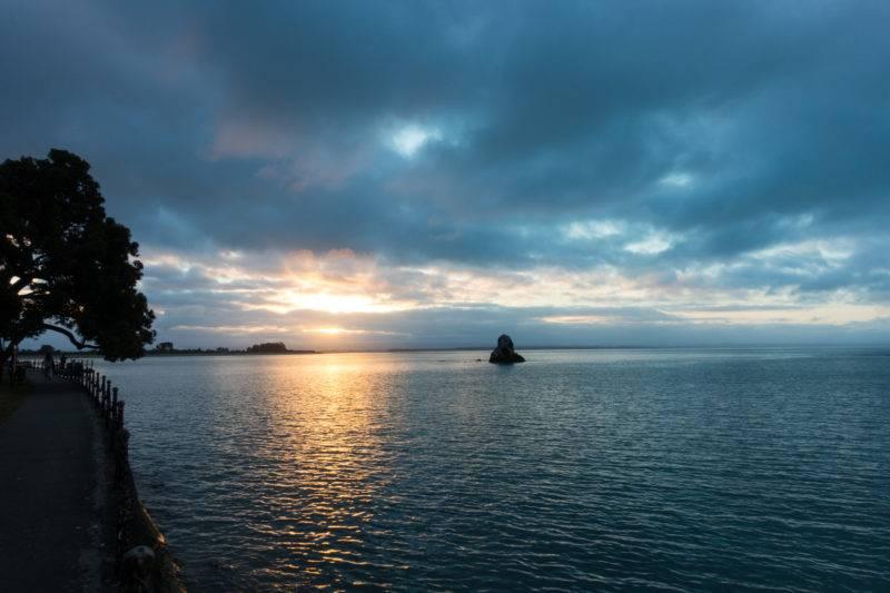 Der Blick auf den Hafen in Nelson