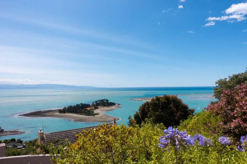 Der Aussichtspunkt auf den Hafen in Nelson
