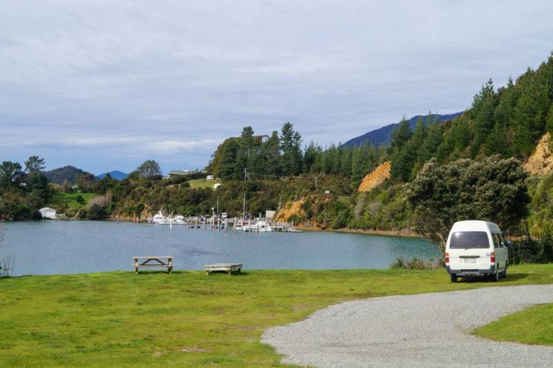Der Campingplatz an der Elaine Bay