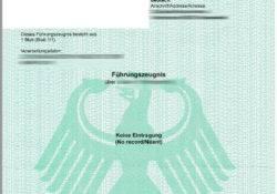 Deutsches Führungszeugnis