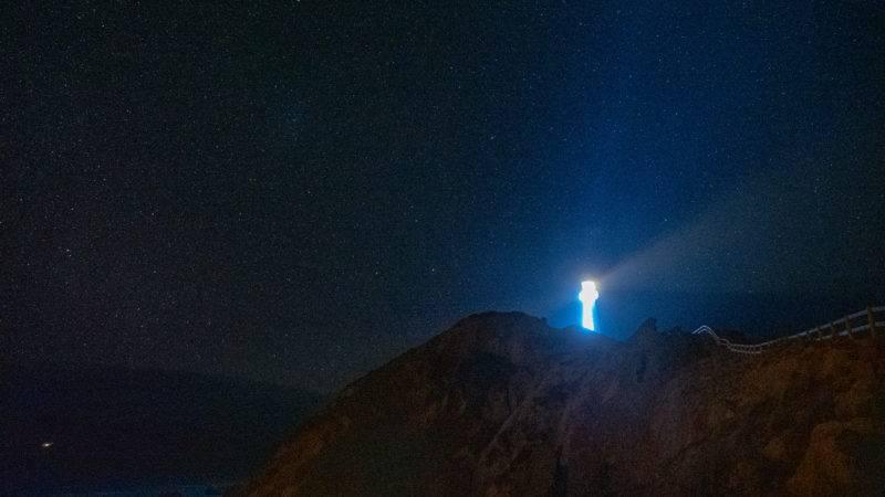 So sieht der Leuchtturm am Castlepoint bei Nacht aus