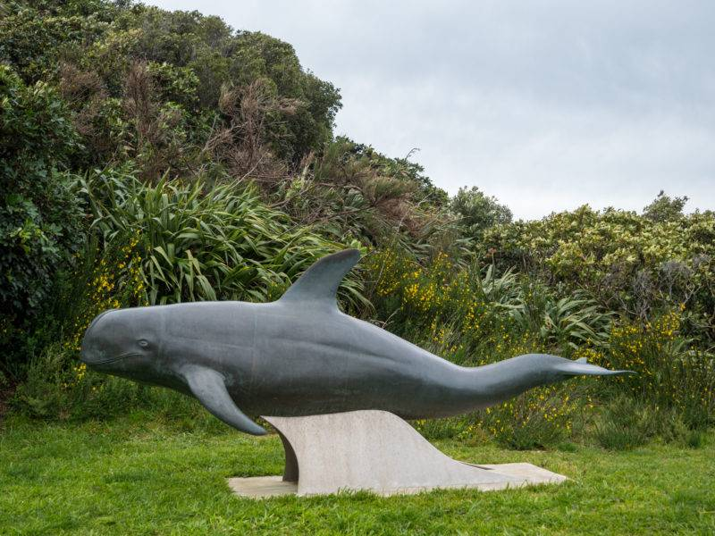 Pelorus Jack Delfin Statue am French Pass